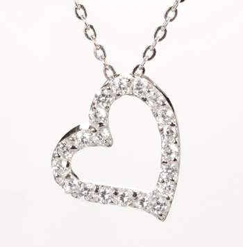 Cz heart necklace necklace wallpaper gallerychitrak beautiful heart pendant sm jpg mozeypictures Gallery
