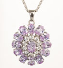 Enchanting Sunburst CZ Pendant